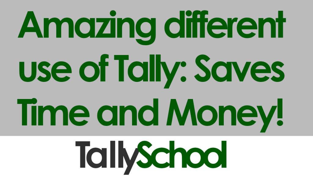 Use of Tally New Delhi